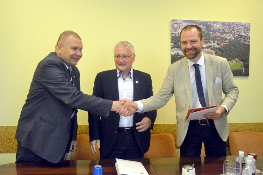 Vytautas Vasilenko, Aleksas Stanislovaitis ir Rytis Davidovičius