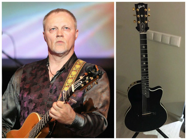 Gytis Paškevičius ir naujoji jo gitara