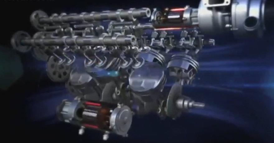 "2014-ųjų metų ""Ferrari"" variklis"