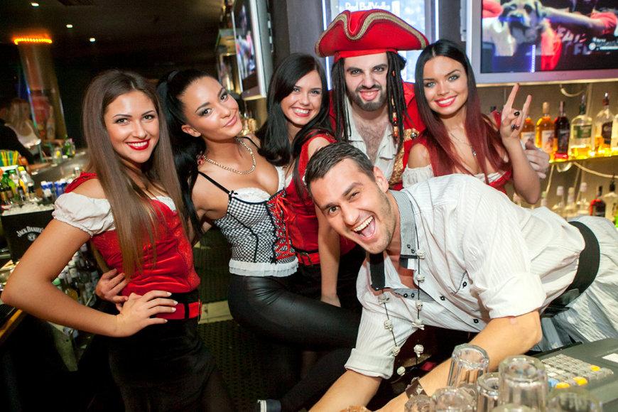 Piratų vakarėlio akimirka
