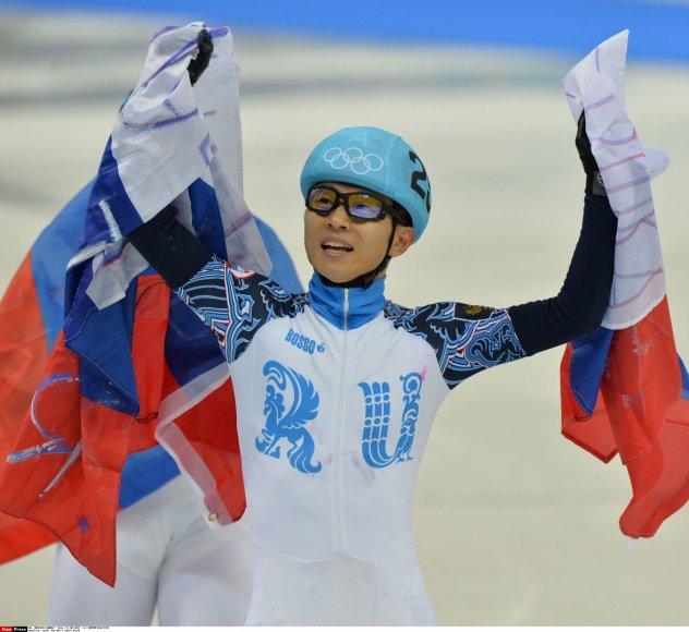 Triskart Sočio žiemos žaidynių čempionas Victoras Anas