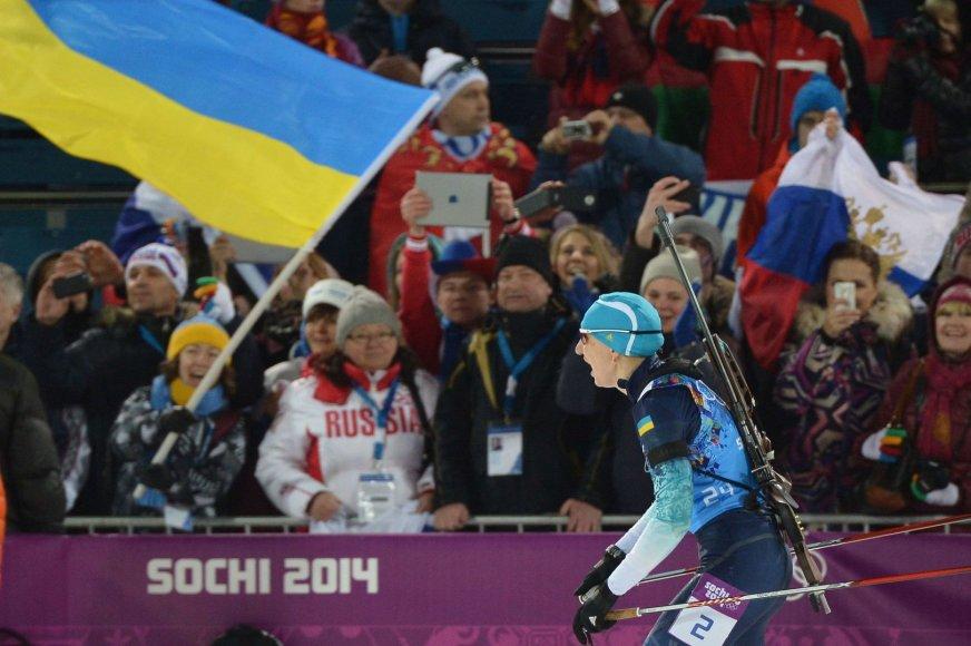 Ukrainos biatlonininkė