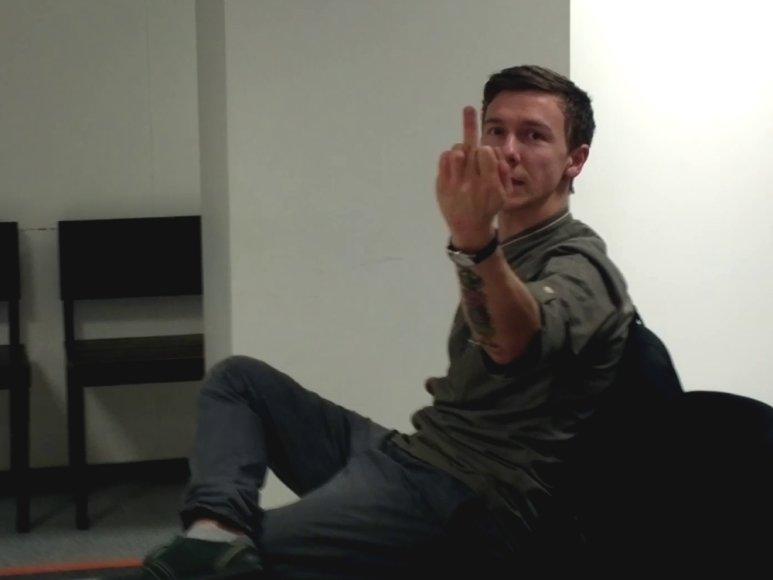 Deivydas Praspaliauskas teismo salėje
