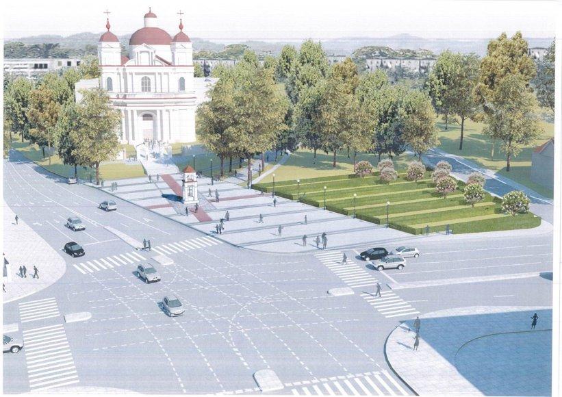 Jono Pauliaus II aikštės rekonstrukcijos projektas