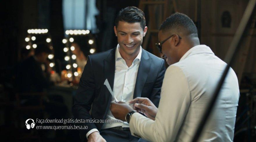 Cristiano Ronaldo ir Anselmo Ralphas BESA reklamoje