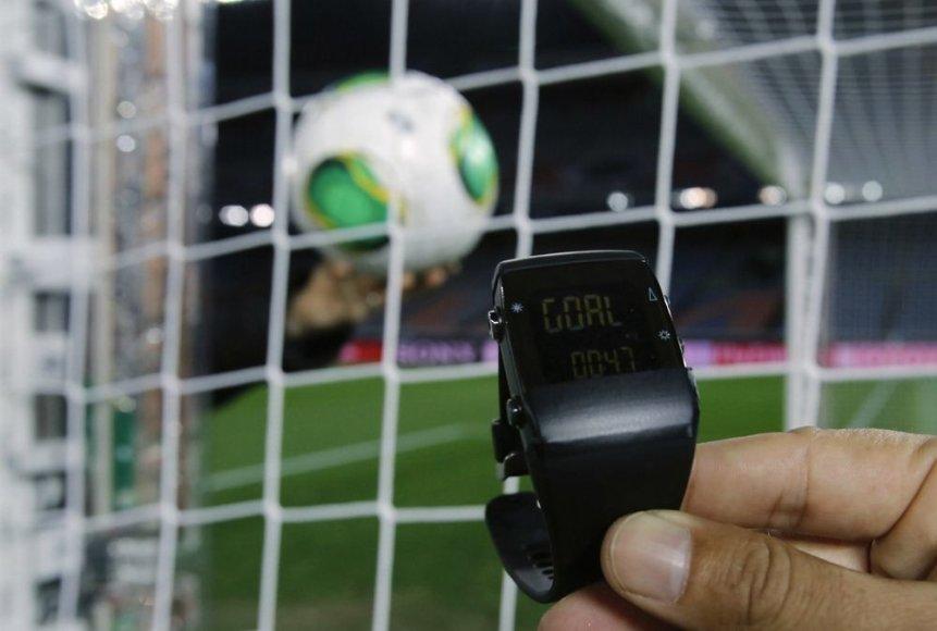 """""""GoalRef"""" vartų linijos technologijos demonstravimas"""