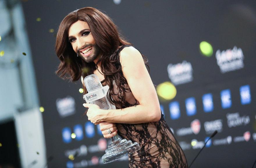 """""""Eurovizijos"""" nugalėtoja Conchita Wurst"""