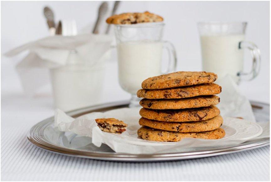 Sausainiai su šokoladu ir karamelizuota šonine