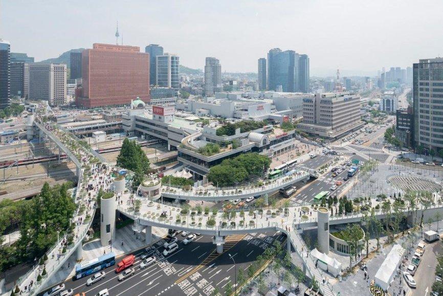 Žaliausia Seulo gatvė: transformavę viaduką, nušluostė nosį britams