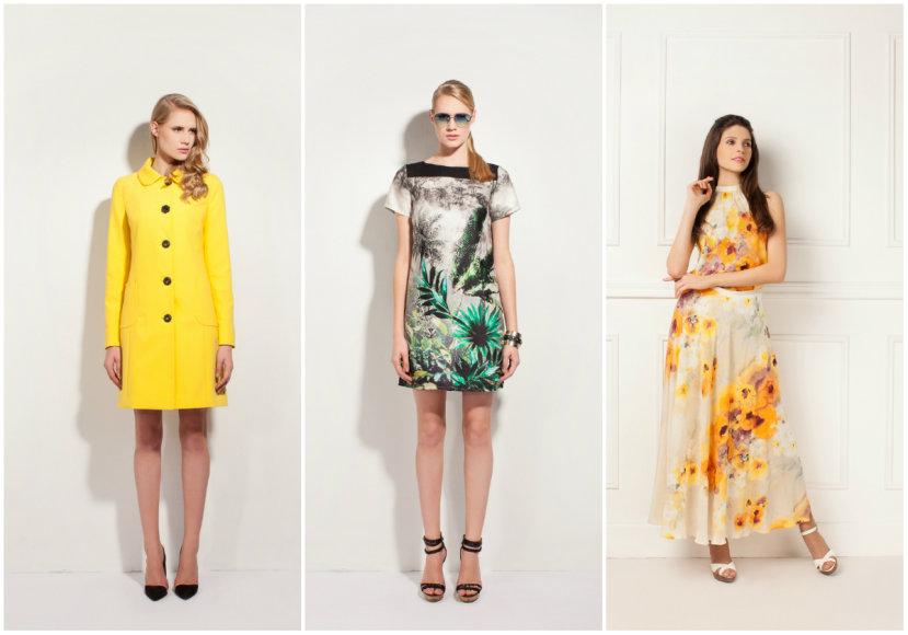 """""""Monton"""" paltukas ir suknelė (viduryje), """"Mosaic"""" suknelė (dešinėje)"""