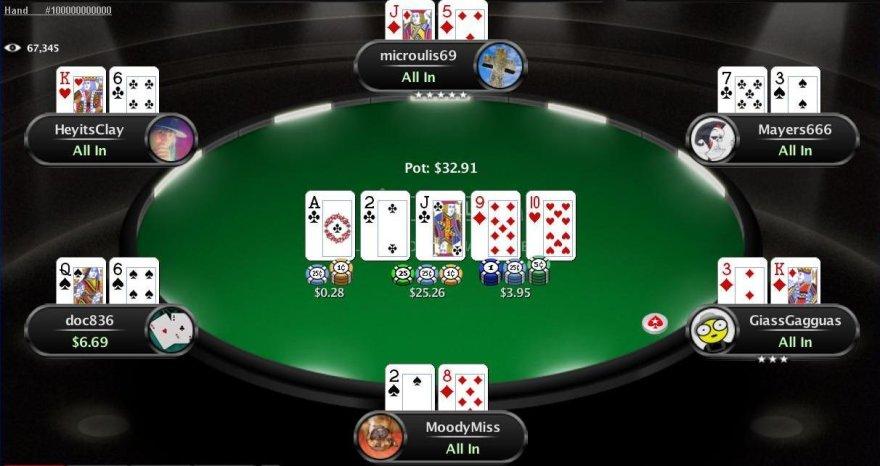 """100 milijardinis padalijimas """"PokerStars"""" kambaryje"""