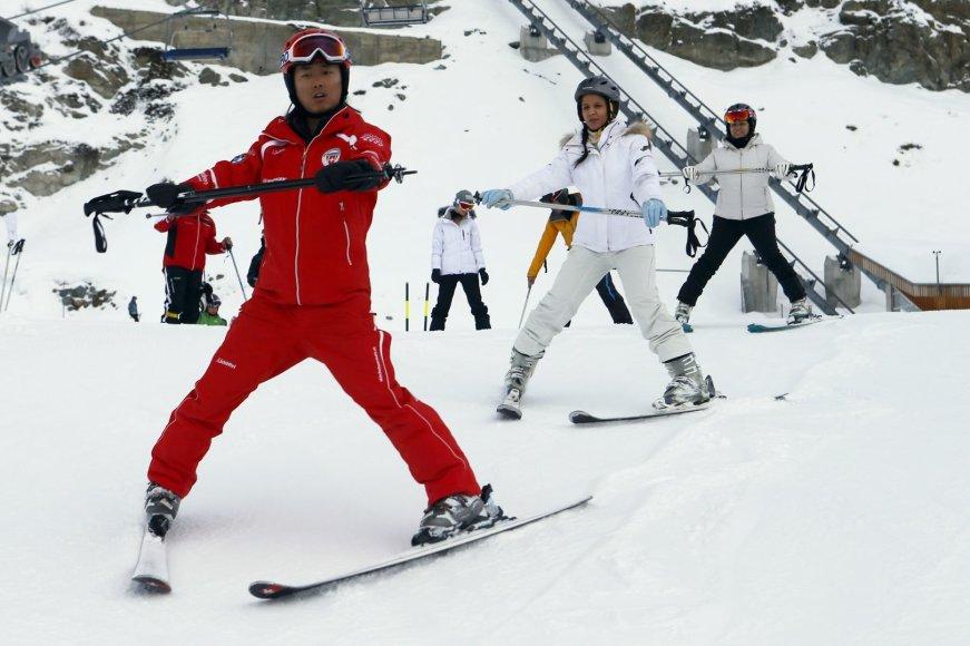 Šveicarijos Sen Morisas (St. Moritz): puikūs viešbučiai ir patogios slidinėjimo trasos