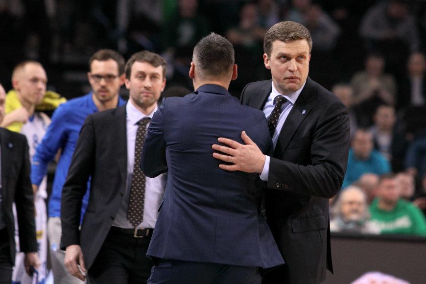 Šarūnas Jasikevičius ir Dainius Adomaitis