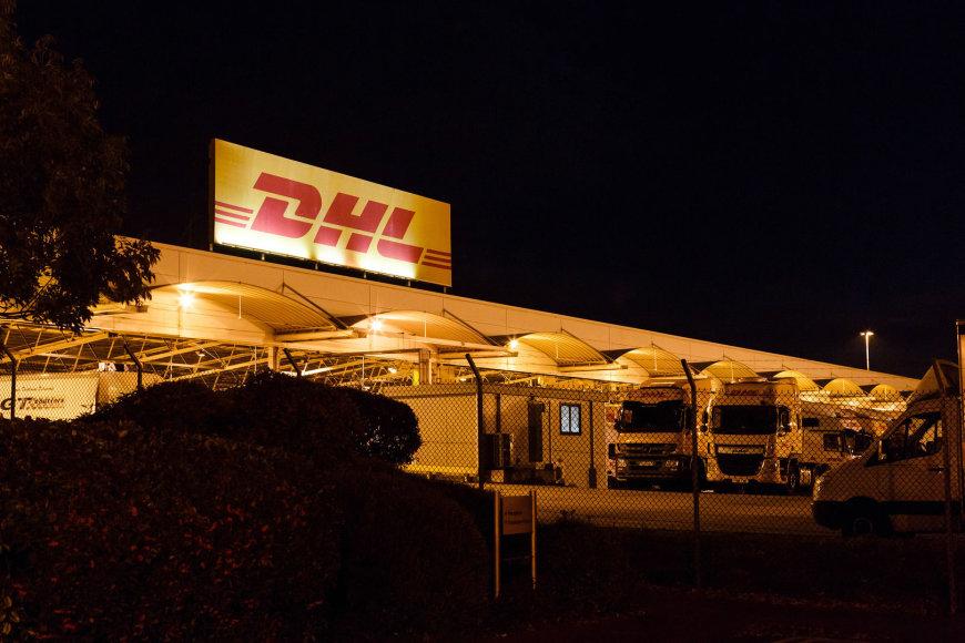 DHL logistikos centro Birmingeme vaizdai