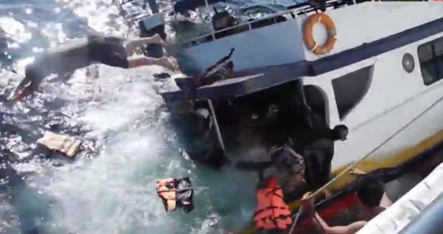 skęstantis laivas Tailande