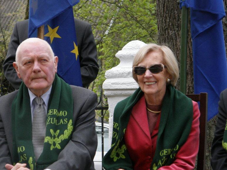 Valdas Adamkus su Alma Adamkiene lankėsi Vilkijoje