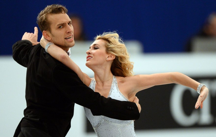 Šokėjai ant ledo Deividas Stagniūnas ir Isabella Tobilas