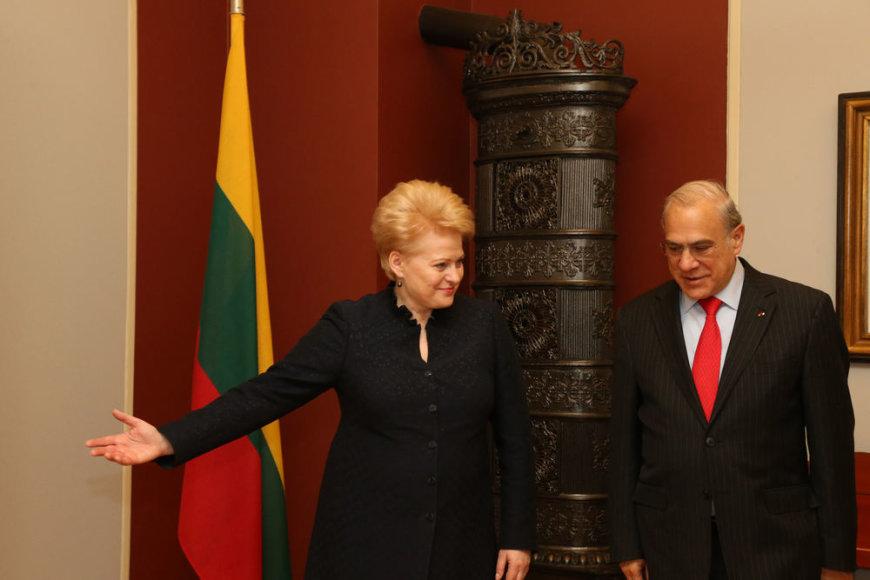 Dalia Grybauskaitė Osle susitiko su Tarptautinės ekonominio bendradarbiavimo ir plėtros organizacijos (TEBIPO) generaliniu sekretoriumi Angelu Gurria.