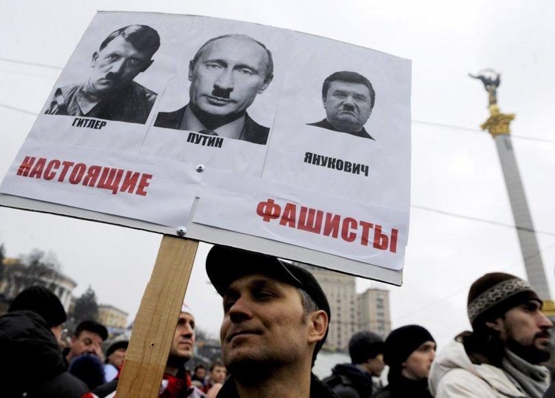 Protestuotojas Ukrainoje
