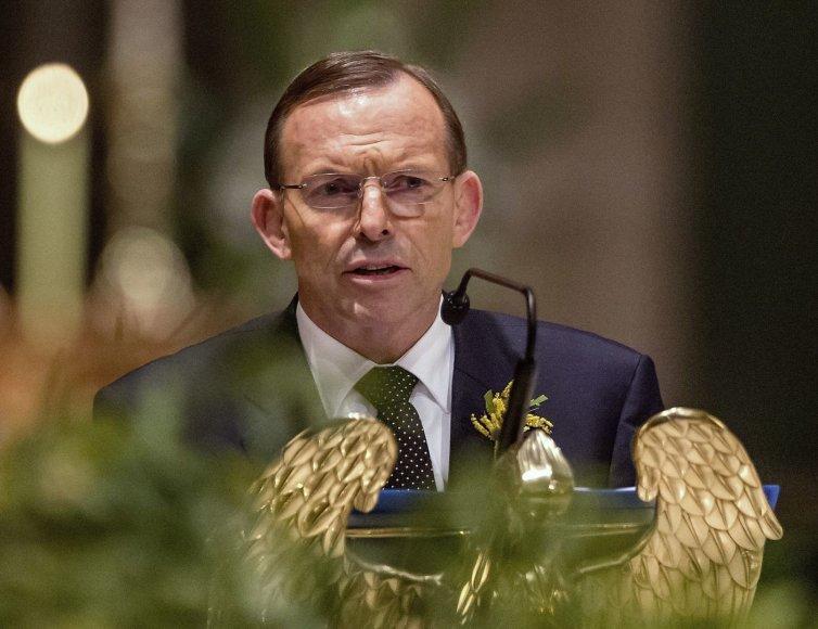 Australijos ministras pirmininkas Tony Abbottas