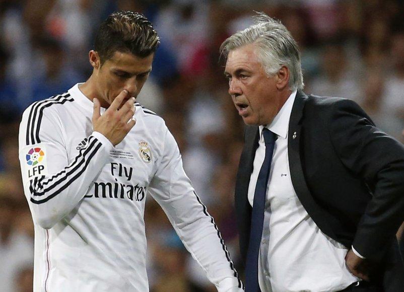 Cristiano Ronaldo ir Carlo Ancelotti