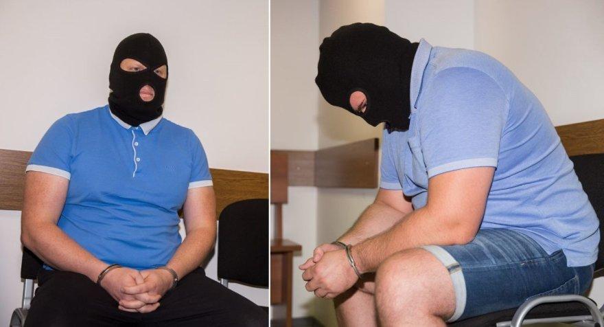 Įtariamųjų veidus slėpė kaukės