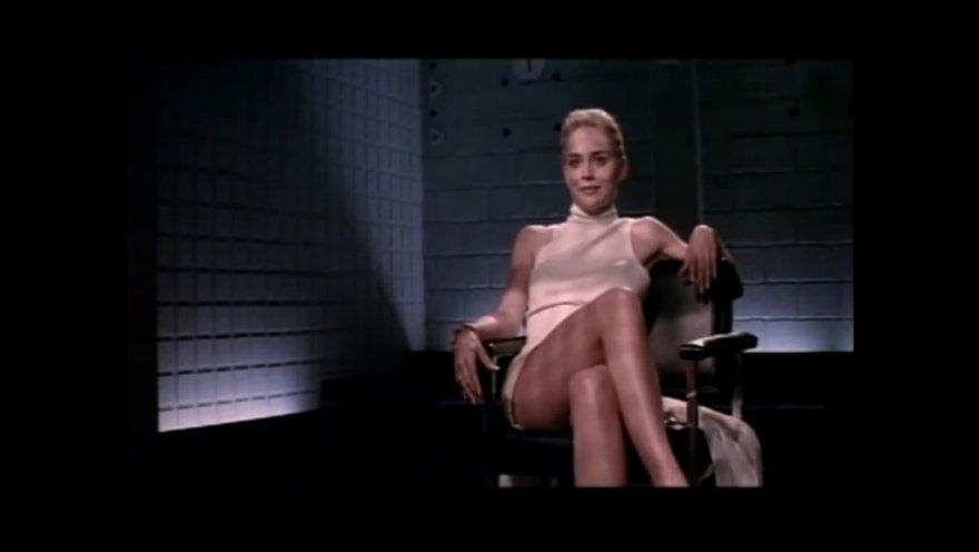 "Sharon Stone filme ""Esminis instinktas"""