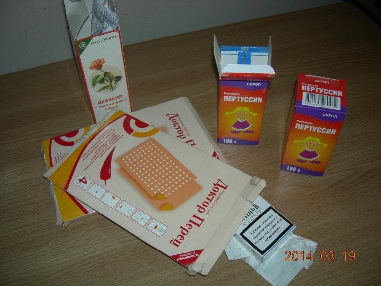Kontrabanda medikamentų pakuotėse