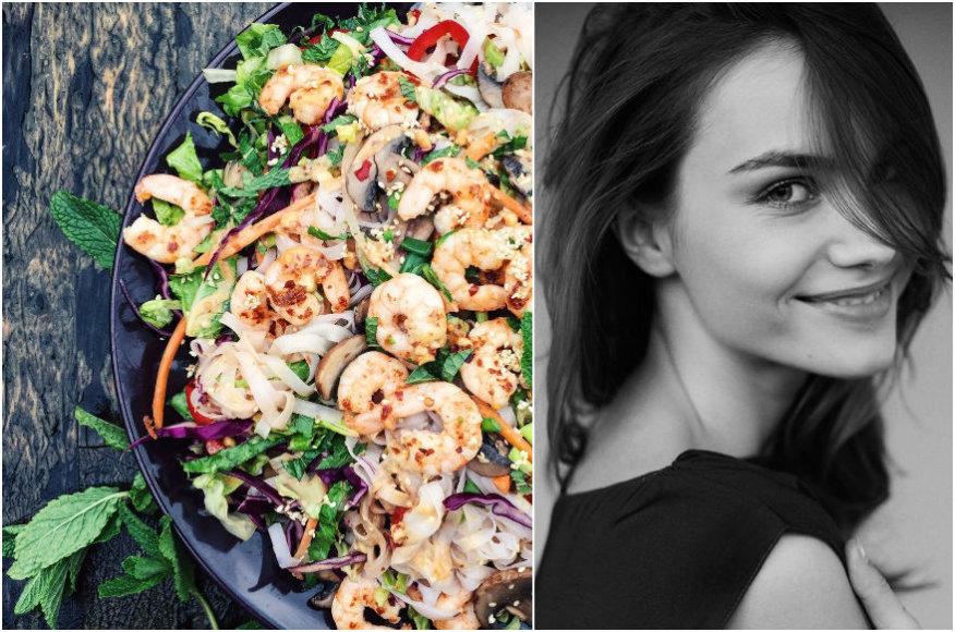 Julija Steponavičiūtė ir jos ruoštos salotos