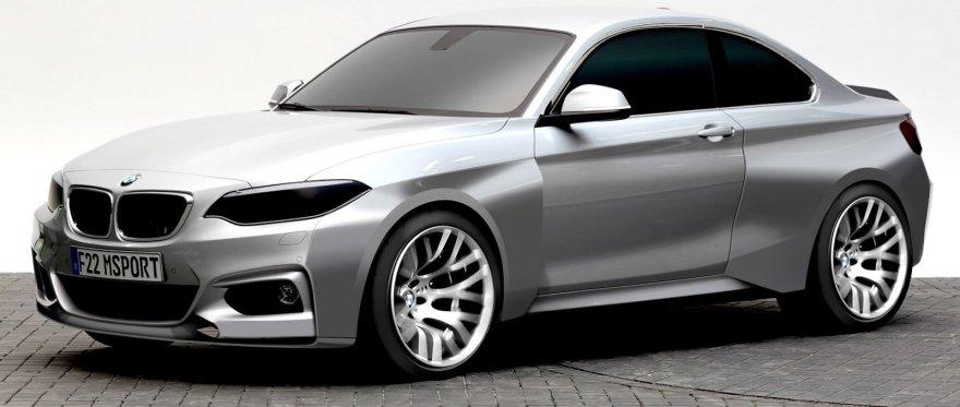 Lenktyninio BMW M235i eskizas
