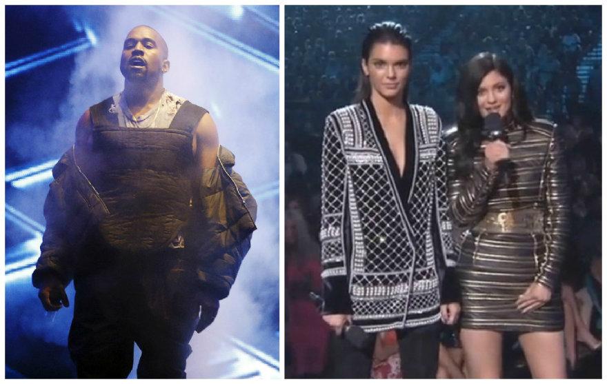 Kanye Westas, Kendall Jenner ir Kylie Jenner