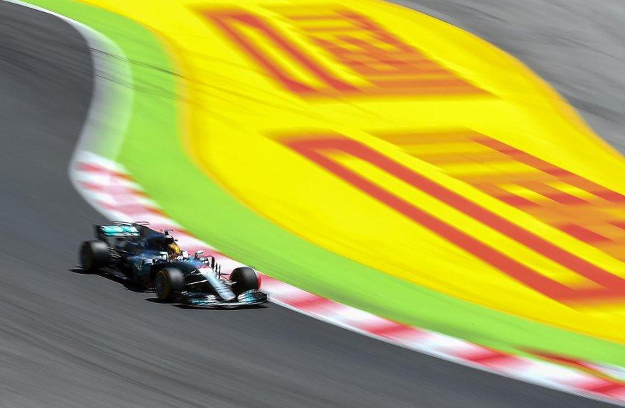 Lewisas Hamiltonas Barselonos trasoje