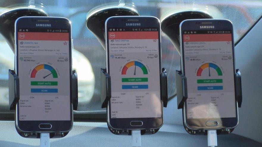 Mobiliojo interneto spartos matavimai