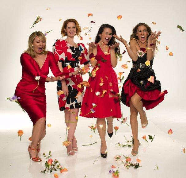 "Kim Cattrall, Cynthia Nixon, Kristin Davis ir Sarah Jessica Parker filme ""Seksas ir miestas"""