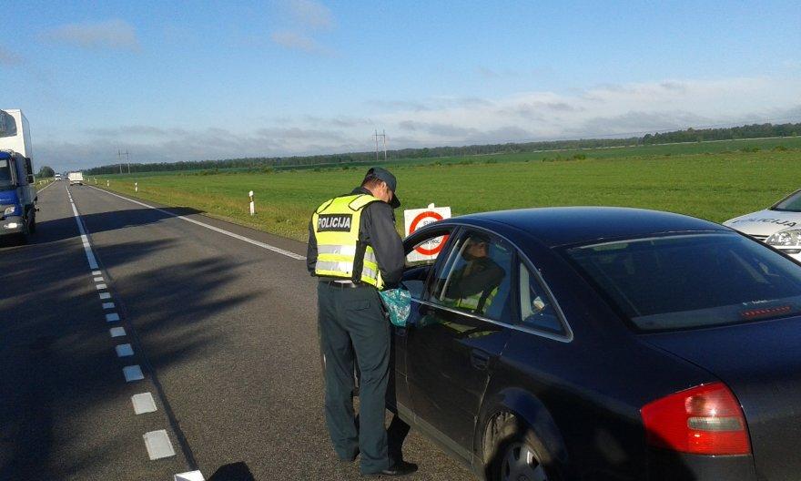 Kauno ir Panevėžio policijos reidas Panevėžio rajone
