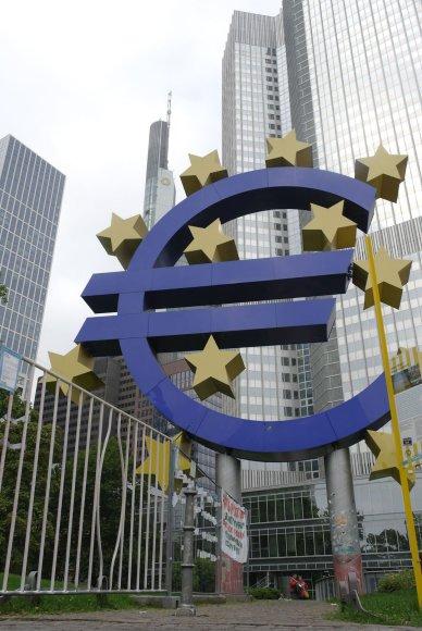 Euro ženklas Frankfurte prie Maino