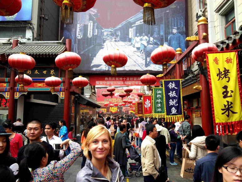 Vietinių gardėsių turgelyje Pekine