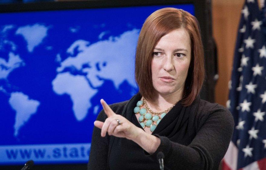 JAV valstybės departamento atstovė Jen Psaki