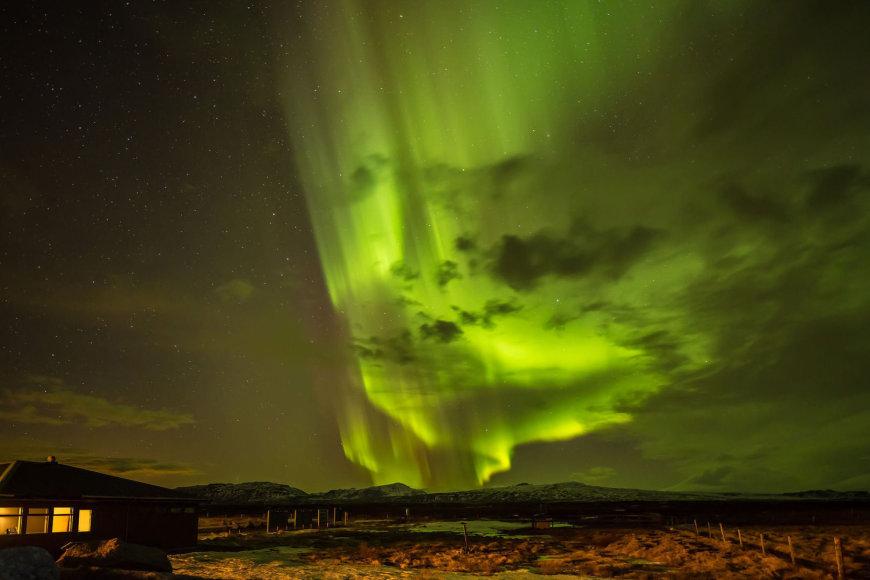 Šiaurės pašvaistė Islandijoje