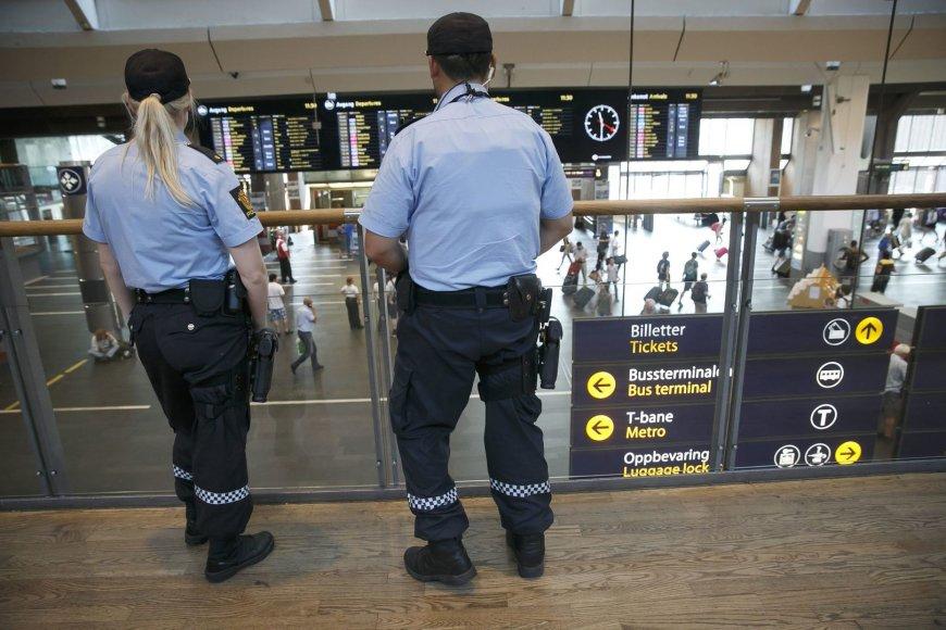 Policija oro uoste Norvegijoje
