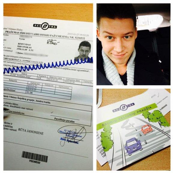 Rimvydas Širvinskas-Makalius išlaikė vairavimo egzaminą