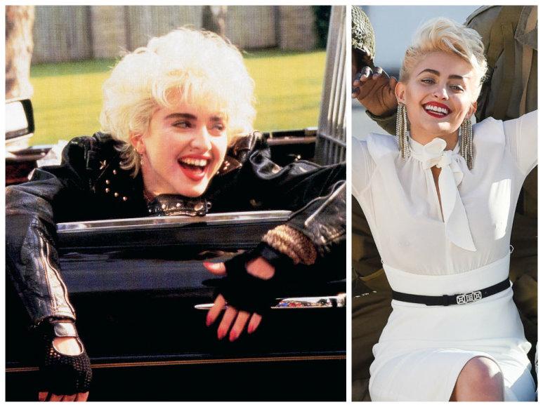 Madonna 1987 metais ir Paris Jackson 2017 metais