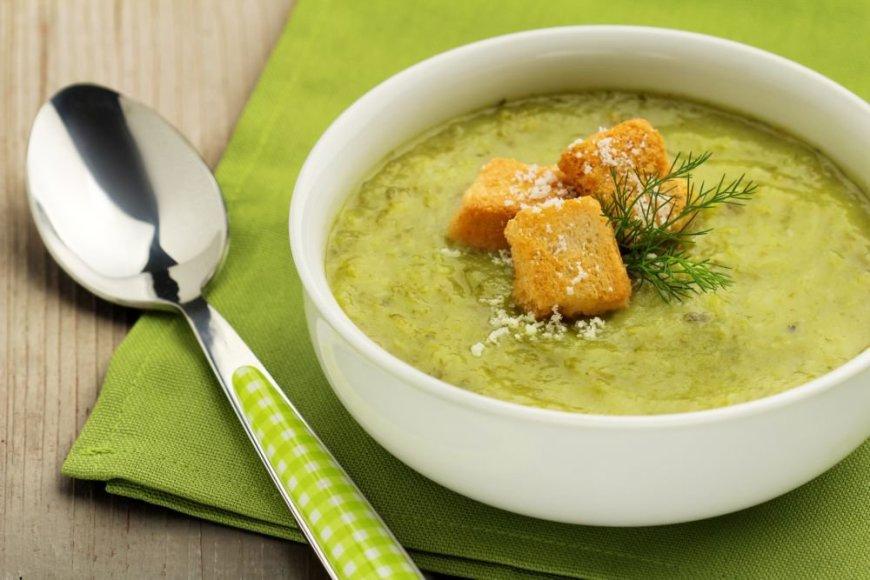 Kreminė špinatų ir grybų sriuba