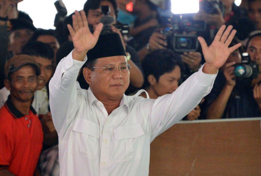 Kandidatas į Indonezijos prezidentus Prabowo Subianto