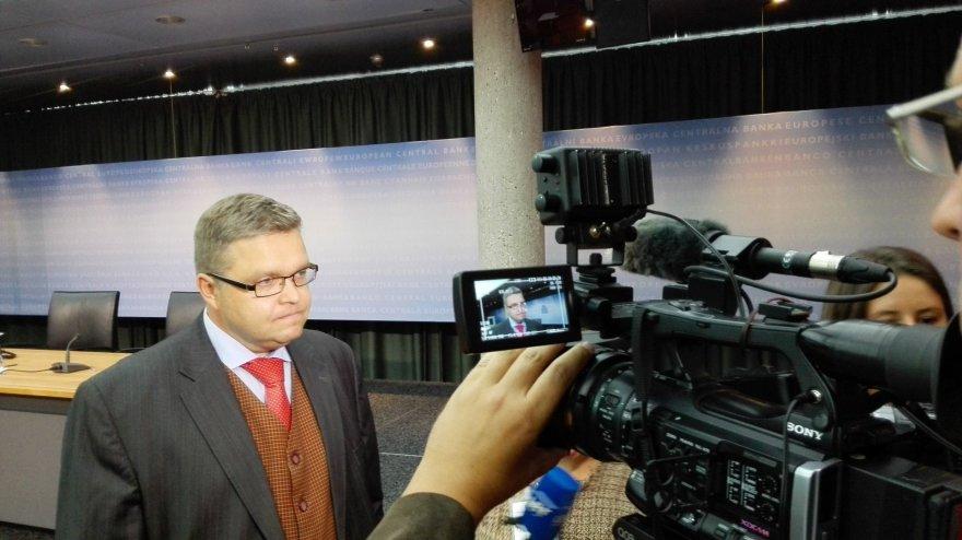 Lietuvos banko valdybos pirmininkas Vitas Vasiliauskas Frankfurte prie Maino