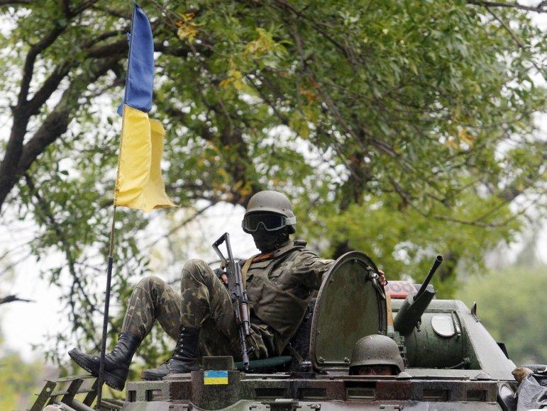 Ukrainos karys Avdijivkos mieste