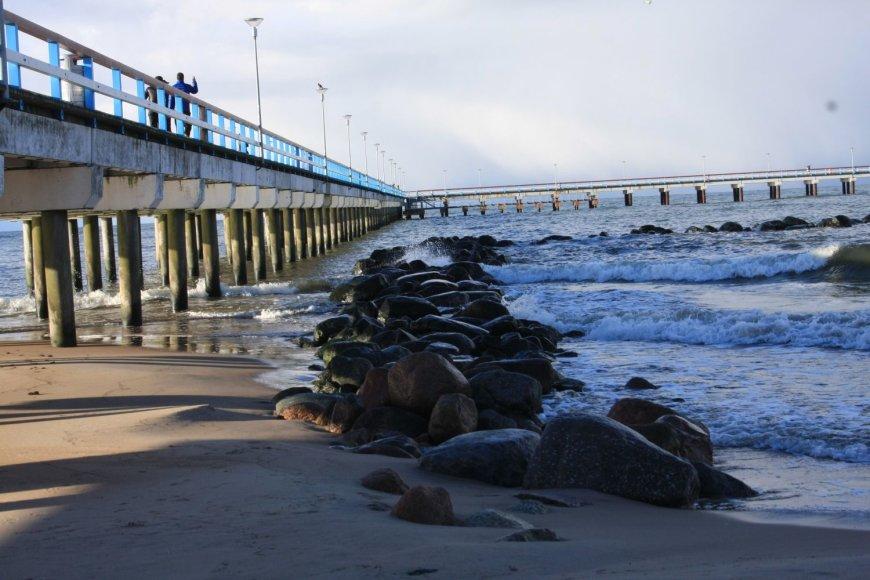 Palangos tiltą ėmė semti smėlio pusnys