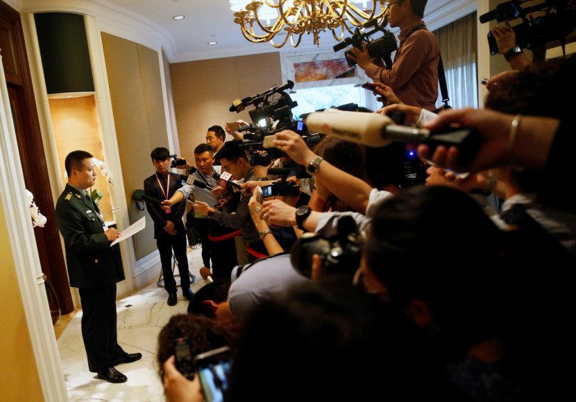 Kinijos gynybos ministerijos atstovas Yang Yujunas