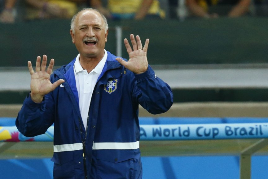 Brazilijos futbolo rinktinės treneris Luizas Felipe Scolari
