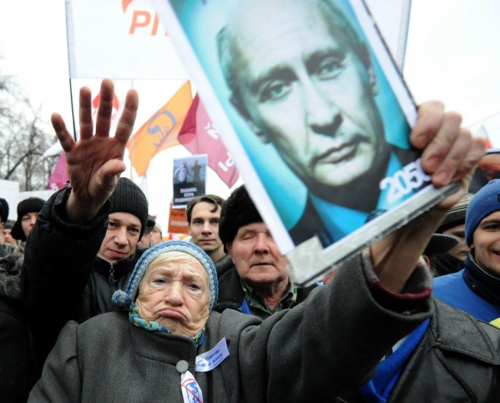Plakatas su Vladimiro Putino atvaizdu
